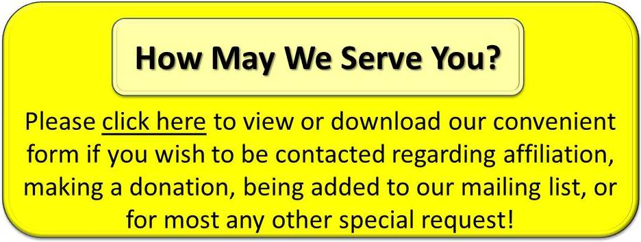 How May We Serve You Home Page