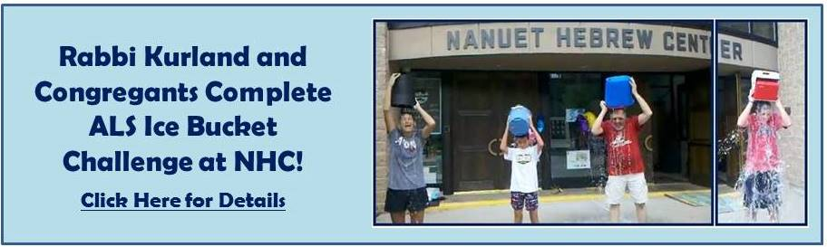 Rabbi Kurland - Ice Bucket Challenge - August 17 2014