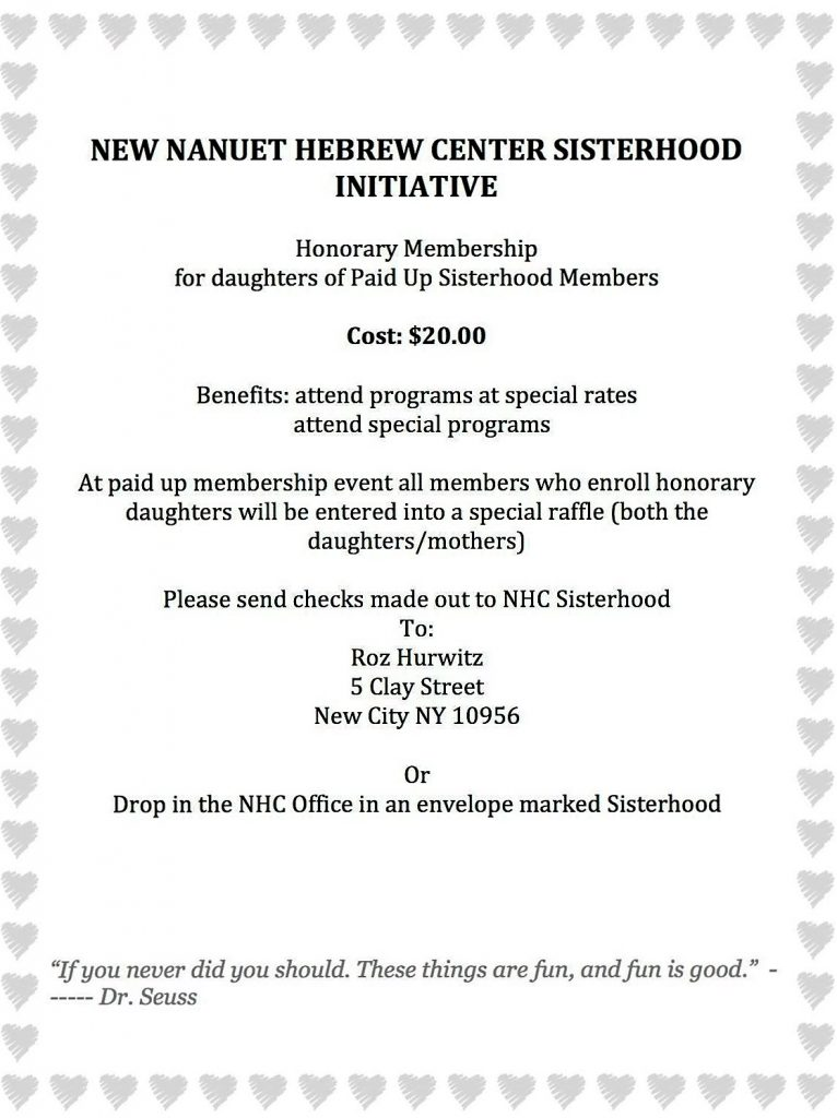 Sisterhood Honorary Membership